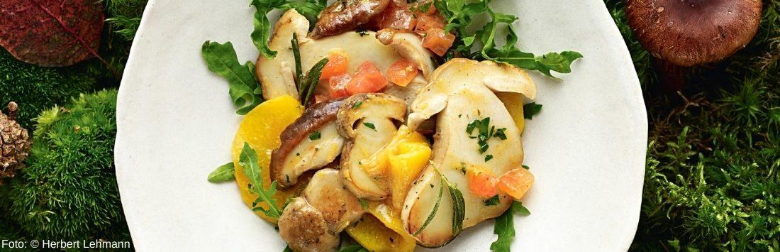 leichter Sommersalat mit Steinpilzen