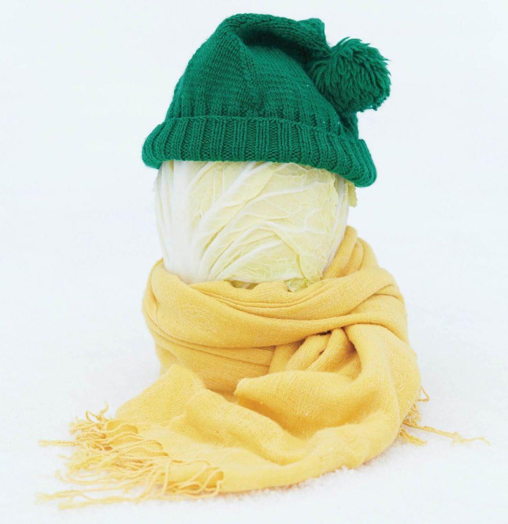 Winterlicher Kohl: Mütze statt Schneehaube