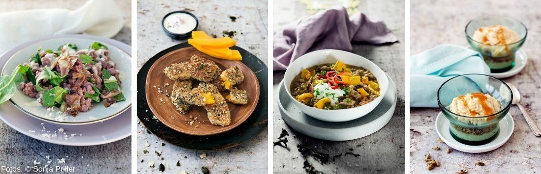 vier köstliche Herbstgerichte
