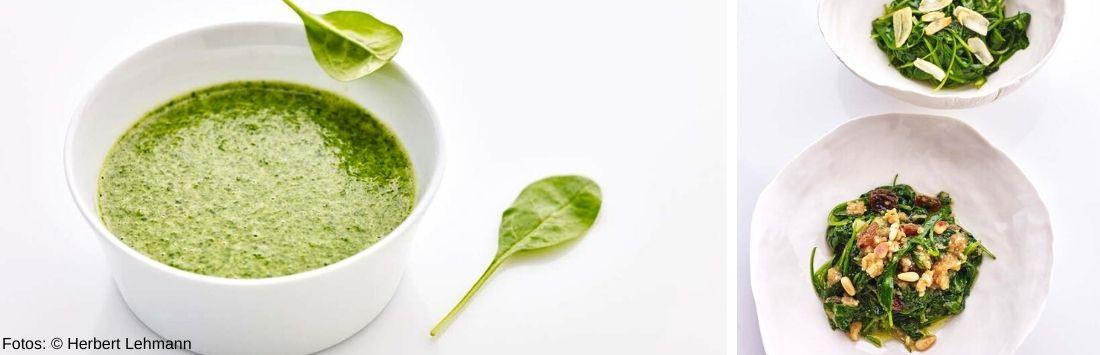 Gerichte mit Spinat