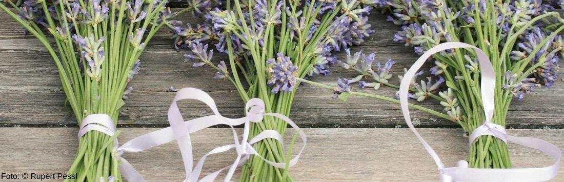 Lavendel auf einem Tisch