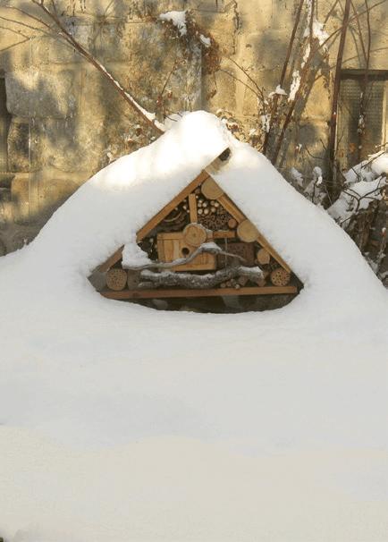 Bienenhotel im Wildgarten anlegen
