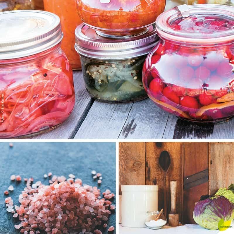 Gläser, Wasser, Salz und einfache Werkzeuge: Damit werden eure Lebensmittel fermentiert!