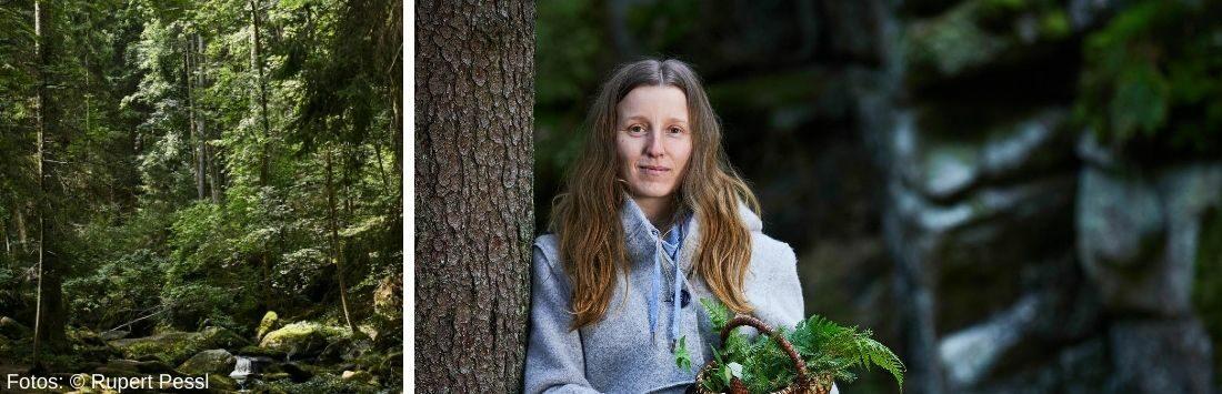 Gerda Holzmann im Wald