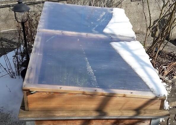 Geschlossene Hochbeet-Abdeckung