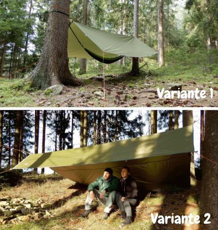 Varianten Dach aus Zeltplane