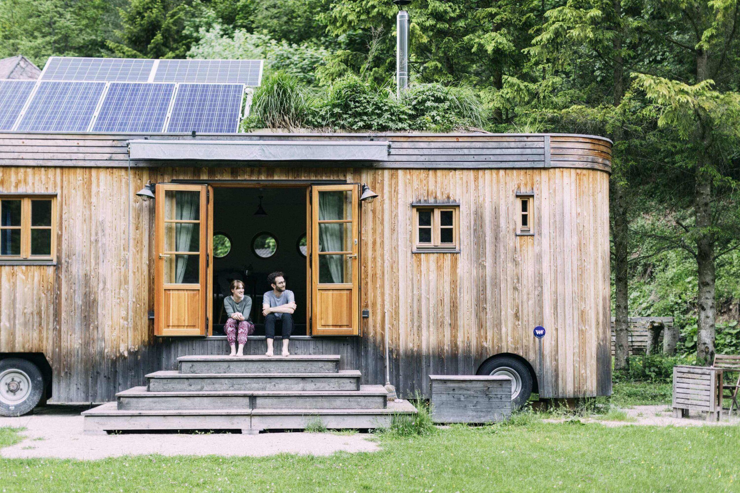 Tiny House mit Sonnenkollektoren