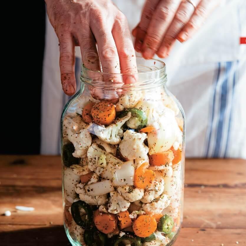 Blumenkohl fermentieren mit Curry