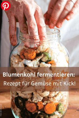 fermentierter Blumenkohl im Glas