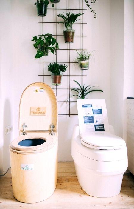 gekaufte Komposttoiletten