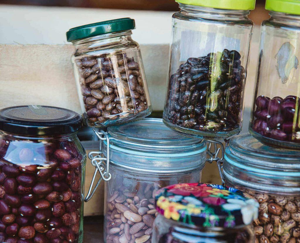 Samen in Gläsern aufbewahren