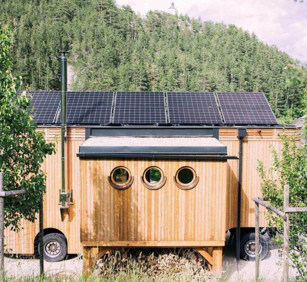 Tiny House mit Solaranlagen